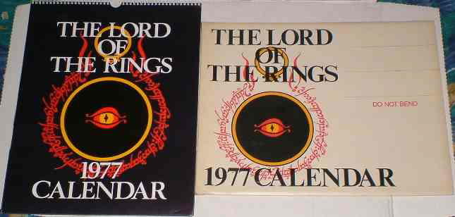 The Lord of the Rings 1977 Calendar
