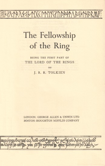 Vol. 1 - Title Page