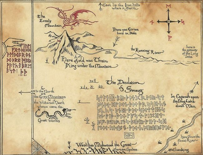 'Thror's Map' by J.R.R. Tolkien