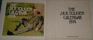 The J.R.R. Tolkien Calendar 1974. Issued in a card mailing envelope