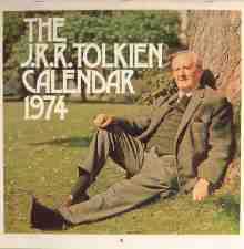 J.R.R. Tolkien Calendar 1974. Calendar, issued in a card mailing envelope.