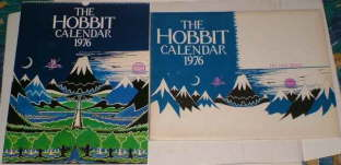 The Hobbit Calendar 1976. Issued in a card mailing envelope