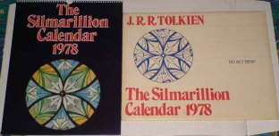 The Silmarillion Calendar 1978. Issued in a card mailing envelope