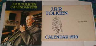 J.R.R. Tolkien Calendar 1979. Issued in a card mailing envelope