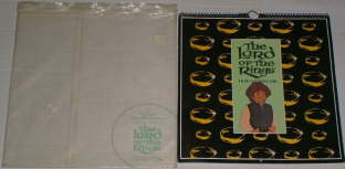 The Lord of the Rings Film Calendar 1980. Issued in a clear cellophane envelope