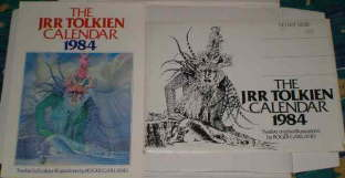 The J.R.R. Tolkien Calendar 1984. Issued in a card mailing envelope