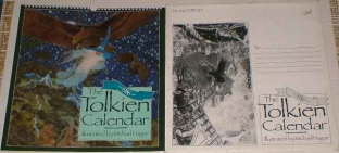 The 1986 Tolkien Calendar. Issued in a card mailing envelope