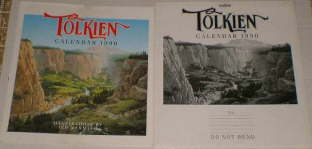 Tolkien Calendar 1990. Issued in a card mailing envelope, although some copies may have been issued shrink-wrapped