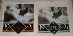 The Tolkien Calendar 1991. Issued in a card mailing envelope