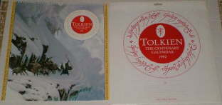 Tolkien - The Centenary Calendar 1992. Issued in a card mailing envelope