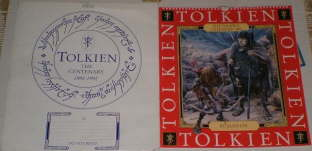 The Tolkien Calendar 1993. Issued in a card mailing envelope, although some copies may have been issued shrink-wrapped