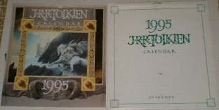 1995 J.R.R. Tolkien Calendar. Issued in a card mailing envelope