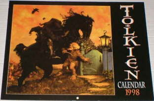 Tolkien Calendar 1998. Issued shrink-wrapped