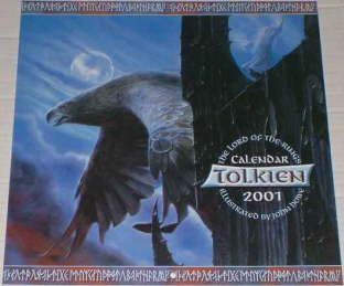 Tolkien Calendar 2001. Issued shrink-wrapped