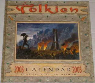 Tolkien Calendar 2003. Issued shrink-wrapped
