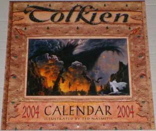 Tolkien Calendar 2004. Issued shrink-wrapped