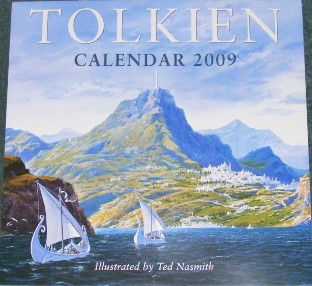 Tolkien Calendar 2009. Issued shrink-wrapped