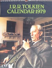 J.R.R. Tolkien Calendar 1979. Calendar. Issued in a card mailing envelope.