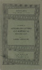 Autograph Letters and Historical Documents. 1978. Auction catalogue