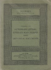 Autograph Letters. 1979. Auction catalogue