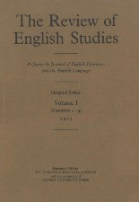 Review of English Studies. 1925. Reprint. Hardback?