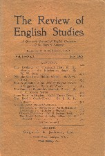 Review of English Studies. July 1925. Booklet.