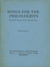 Songs for the Philologists. 1936. Booklet.