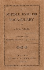 Middle English Vocabulary. 1922. Paperback.