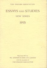 Essays and Studies 1953. Reprint. Paperback journal