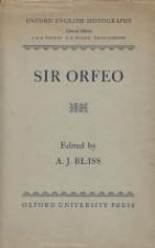 Sir Orfeo. 1954. Hardback in dustwrapper.