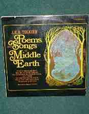 Poems and Songs of Middle Earth. 1967. LP Record.