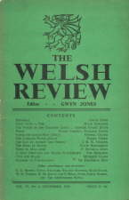 Welsh Review. 1945. Magazine.